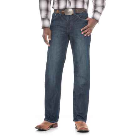 Stetson Modern Fit Straight-Leg Jeans - Barbed Wire Pockets (For Men) in Medium Wash - Overstock