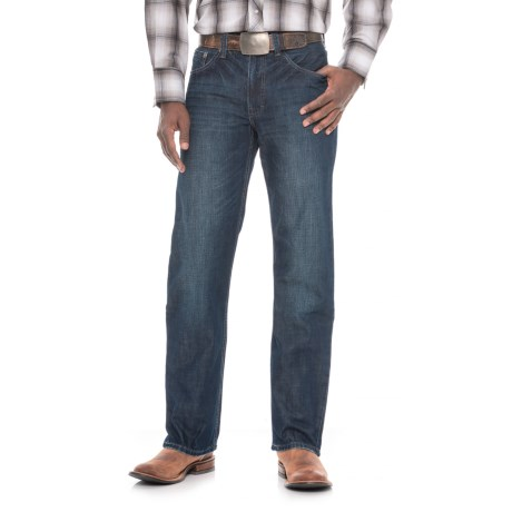Stetson Modern Fit Straight-Leg Jeans - Barbed Wire Pockets (For Men) in Medium Wash