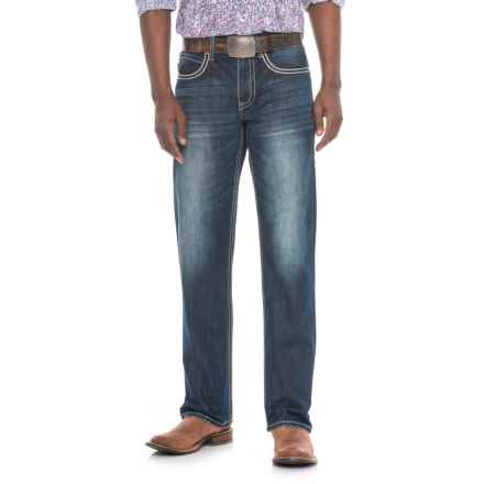 Stetson Modern Straight-Leg Jeans - X-Stitched Pockets (For Men) in Dark Wash - Overstock