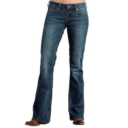 Stetson Multicolor-Stitched Jeans - Low Rise, Bootcut (For Women) in Blue - Closeouts