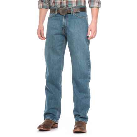 Stetson No. 1520 Medium Distressed Jeans (For Men) in Stone Wash - Closeouts