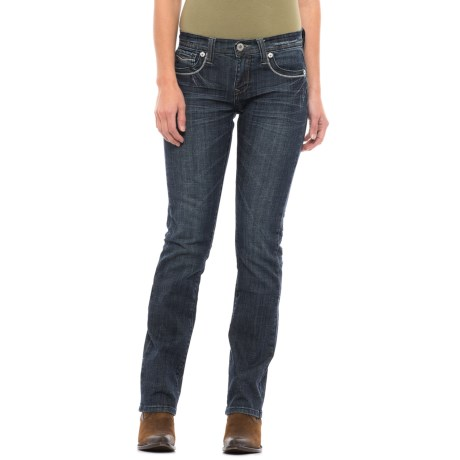 Stetson No. 541 Stovepipe Straight-Leg Jeans (For Women) in Light Wash Denim