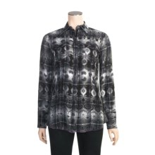 Stetson Overprinted Plaid Shirt - Long Sleeve (For Women) in Black - Closeouts