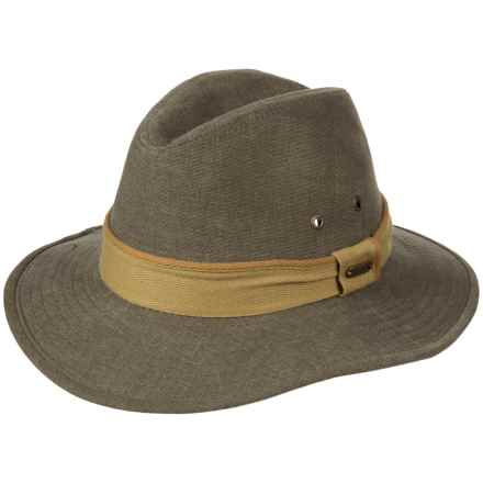 Stetson Oxford Safari Hat - UPF 50+ (For Men) in Olive - Closeouts