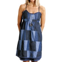 Stetson Patchwork Denim Sun Dress - Sleeveless (For Women) in Blue - Closeouts