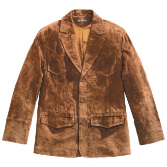Stetson Pig Suede Jacket (For Men) in Brown
