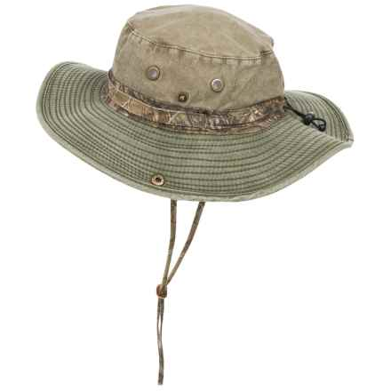 Stetson Pigment-Dyed Twill Boonie Hat with Mossy Oak® Trim (For Men) in Olive/Mossy Oak - Closeouts
