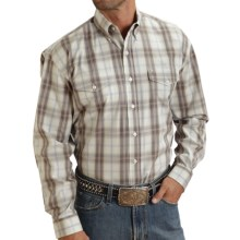 Stetson Plaid Flat-Weave Shirt - Long Sleeve (For Men) in Brown - Closeouts