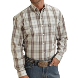 Stetson Plaid Flat-Weave Shirt - Long Sleeve (For Men) in Brown