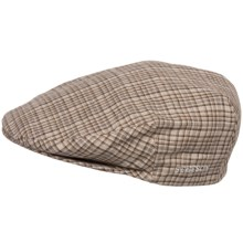 Stetson Plaid Linen Ivy Cap (For Men) in Tan - Closeouts