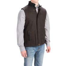 Stetson Plaid Wool Vest (For Men and Big Men) in Brown - Closeouts