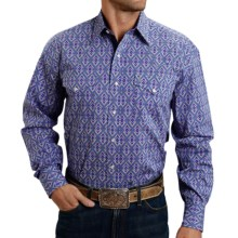 Stetson Printed Poplin Shirt - Snap Front, Long Sleeve (For Men) in Blue Medallion - Closeouts