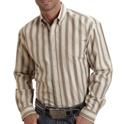 Stetson Sanded Dobby Stripe Shirt - Button-Up, Long Sleeve (For Men) in Brown