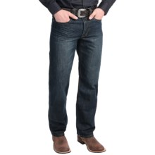 Stetson Screenprint Pocket Jeans - Straight Leg, Relaxed Fit (For Men) in Medium Dark Navy Wash - Closeouts