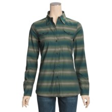 Stetson Serape Stripe Shirt - Long Sleeve (For Women) in Green - Closeouts