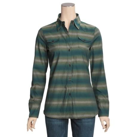Stetson Serape Stripe Shirt - Long Sleeve (For Women) in Green