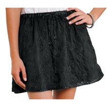 Stetson Short Floral-Embroidered Skirt (For Women) in Black - Closeouts