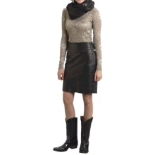 Stetson Soft Lamb Leather Pencil Skirt (For Women) in Black - Closeouts