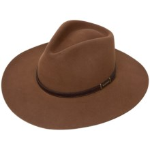 Stetson Solid Fur Felt Cowboy Hat (For Men and Women) in Chocolate - 2nds