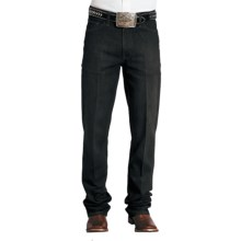 Stetson Standard Straight-Leg Denim Jeans (For Men) in Black Rinse - Closeouts