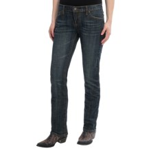 Stetson Stovepipe Jeans - Straight Leg, Slim Fit (For Women) in Dark Wash - Closeouts