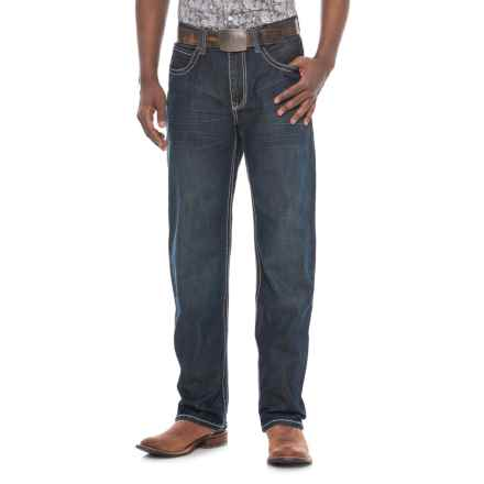 Stetson Straight-Leg Jeans - X-Stitch Pocket (For Men) in Dark Wash - Overstock