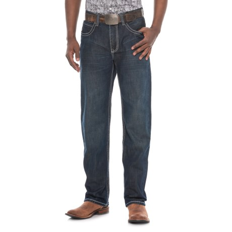 Stetson Straight-Leg Jeans - X-Stitch Pocket (For Men) in Dark Wash