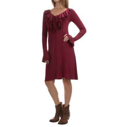 Stetson Stretch-Knit Jersey Dress - Long Sleeve (For Women) in Red - Closeouts