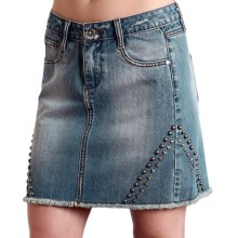 Stetson Studded Denim Skirt (For Women) in Blue - Closeouts