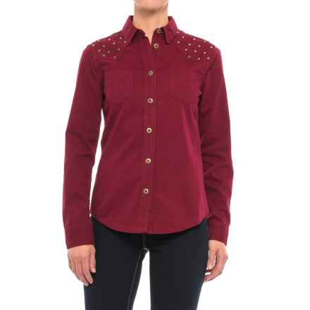 Stetson Studded Twill Shirt - Long Sleeve (For Women) in Red - Closeouts
