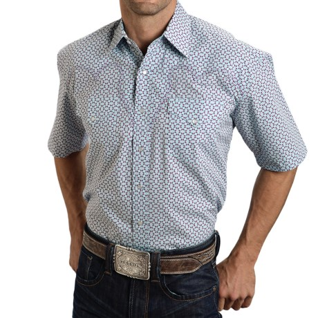 Stetson Summer II Printed Western Shirt Snap Front Short Sleeve For Men and Big Men