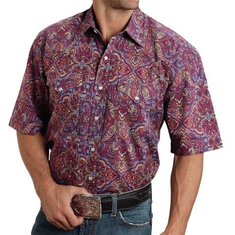 Stetson Summer III Paisley Western Shirt Snap Front, Short Sleeve (For Men)