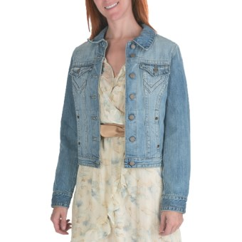 Stetson Vapor Wash Jacket - Denim (For Women) in Blue