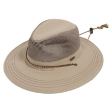 Stetson Washed-Twill Safari Hat (For Men and Women) in Khaki - Closeouts