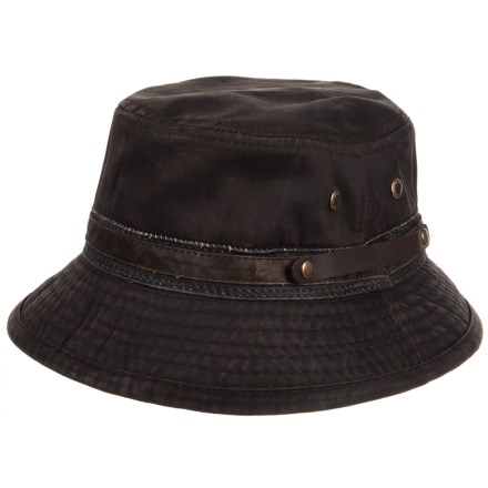 788e1854e48 Stetson Weathered Roll-Up Bucket Hat (For Men) in Brown - Closeouts
