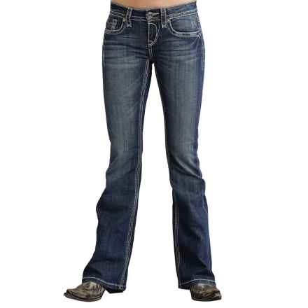 Stetson Western Back Pocket Jeans - Bootcut (For Women) in Blue - Closeouts