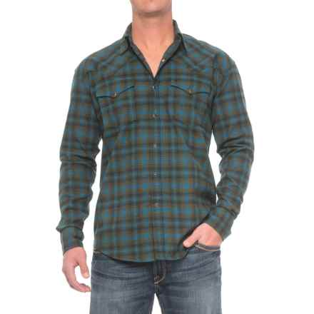 Stetson Western Flannel Shirt - Snap Front, Long Sleeve (For Men) in Dubliner - Closeouts