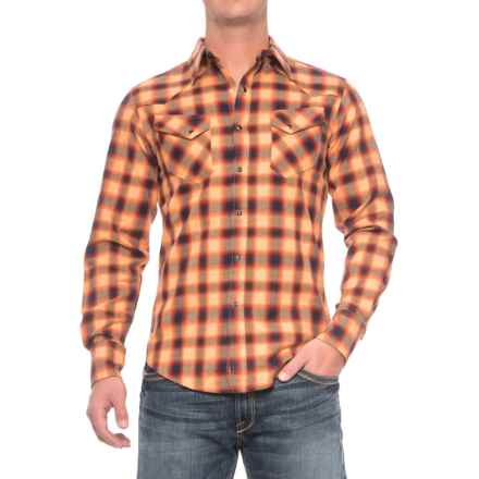 Stetson Western Flannel Shirt - Snap Front, Long Sleeve (For Men) in Rugged Twill - Closeouts