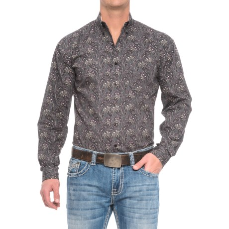 Stetson Western Paisley Shirt - Long Sleeve (For Men) in Romance Paisley