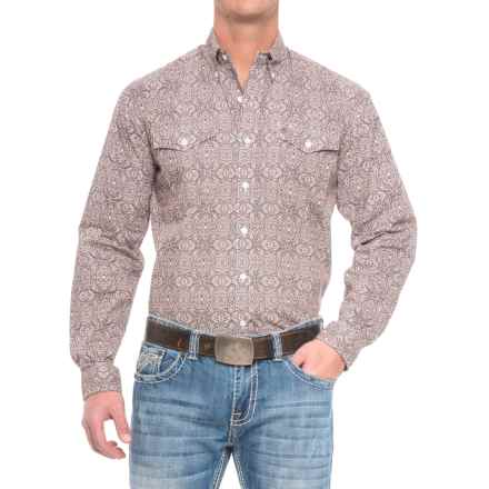 Stetson Western Print Shirt - Long Sleeve (For Men) in Mirror Medallion - Closeouts