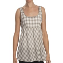 Stetson Yarn-Dyed Ombre Plaid Babydoll Shirt - Sleeveless (For Women) in Desert Valley - Closeouts
