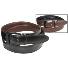 Steve Madden 32mm Two-Tone Reversible Leather Belt (For Men) in Brown/Black - Closeouts