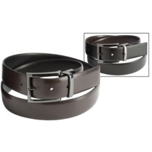 Steve Madden 35mm Reversible Leather Belt (For Men) in Black/Brown - Closeouts