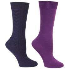 Steve Madden Boot Socks - 2-Pack, Crew (For Women) in Blue Depths/Wildberry - Closeouts