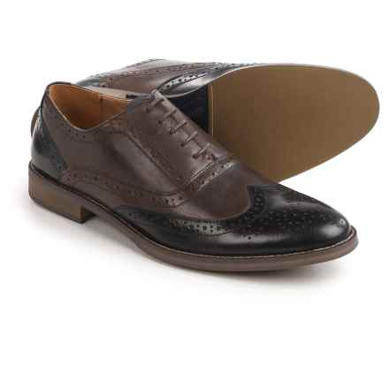 Steve Madden Brymm Wingtip Oxford Shoes (For Men) in Black/Brown - Closeouts