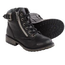 Steve Madden Bucklee Boots (For Big Girls) in Black - Closeouts