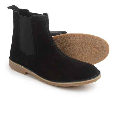 Steve Madden Clint Chelsea Boots - Suede (For Men) in Black Suede - Closeouts