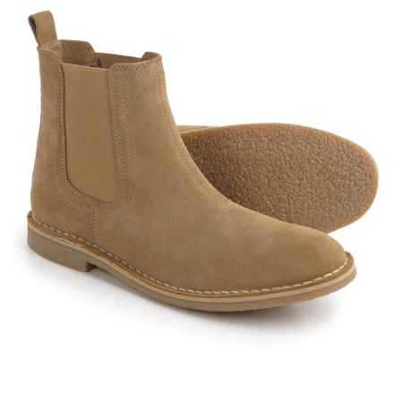 Steve Madden Clint Chelsea Boots - Suede (For Men) in Sand Suede - Closeouts