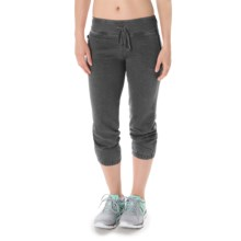 Steve Madden Closed Bottom Jogger Capris (For Women) in Black Tea - Closeouts