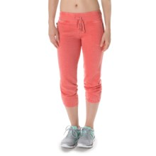 Steve Madden Closed Bottom Jogger Capris (For Women) in Fuji Coral - Closeouts